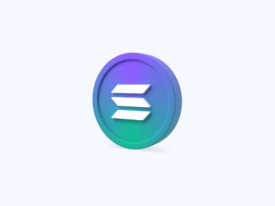 Solana 3D icon cryptocurrency crypto coin sol solana freebies freebie ui icon icons 3d icons 3d icon 3d designer 3d design 3d artist 3d art 3d