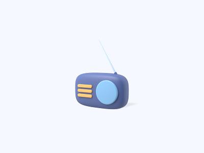 Radio 3D icon radio freebies freebie ui icon icons 3d icons 3d icon 3d designer 3d design 3d artist 3d 3d art
