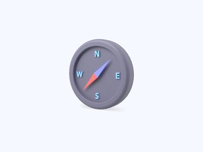 Compass 3D icon compass freebies freebie ui icon icons 3d icons 3d icon 3d designer 3d design 3d artist 3d art 3d