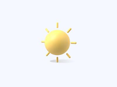 Sun 3D icon weather sunshine sun freebies freebie ui icons icon 3d icons 3d icon 3d designer 3d design 3d artist 3d art 3d