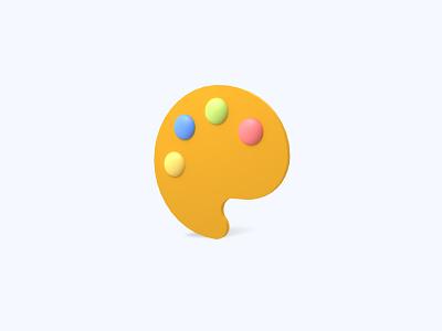 Paints 3D icon painting paint paints freebies freebie ui icon icons 3d icons 3d icon 3d designer 3d design 3d artist 3d art 3d