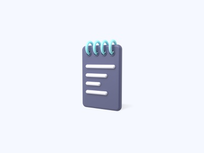 Notebook 3D icon notebook freebies freebie ui icon icons 3d icons 3d icon 3d designer 3d design 3d artist 3d art 3d