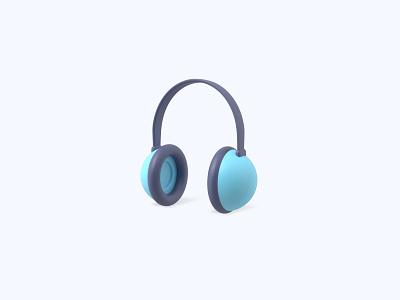 Headphones 3D icon music sound earphones headphones freebies freebie ui icon icons 3d icons 3d icon 3d designer 3d design 3d artist 3d art 3d