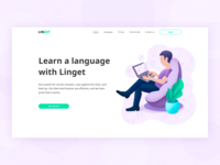 Home page for a Language school