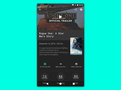 Series Guide Redesign (Concept) android movie design material