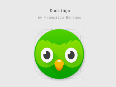 Product icon concept for Duolingo's Android app