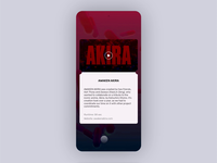 Awaken Akira App (Concept) ux ui mobile cyberpunk anime play trailer movie stream awaken akira