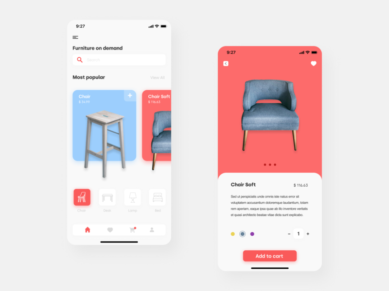 App design - e-commerce figmadesign figma color app web icon designer visualdesign ui interface design