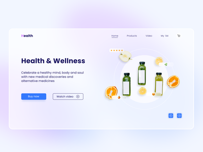 Health & Wellness ux design icon figma web figmadesign designer ui design ui visualdesign interface