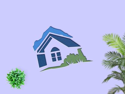 Village Home design branding vector illustration logo