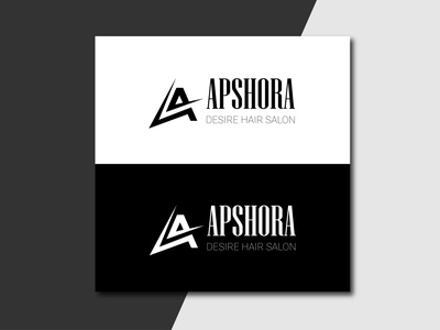 A Hair Salon Logo design branding vector illustration