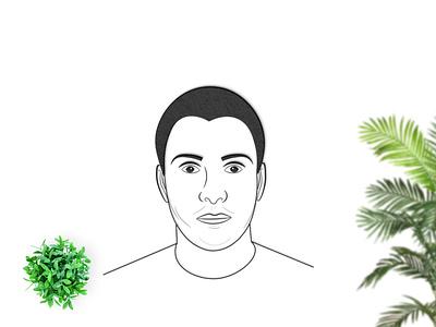 Human Face illustration logo branding vector illustration