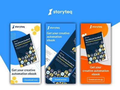 Banners for Storyteq banner ads graphic design design photoshop ads design banner design banner ad adobe photoshop