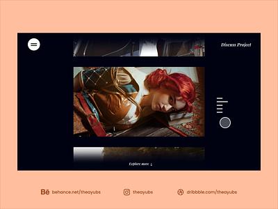 Photographer UI Concept ui design user interface interaction interaction design portfolio ui uiux website photographer photography photo