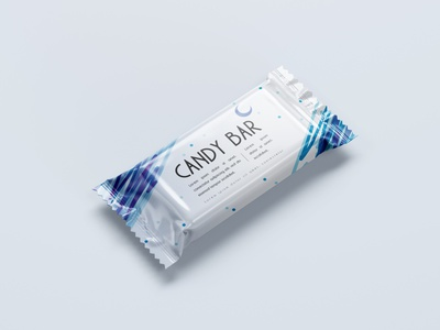 Minimal Candy Bar for Minimalists - Cold Night cool candy mockups inspiration blue creative illustration clean minimal