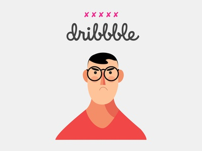 Angry Character red angry dribbble user flat sketch character
