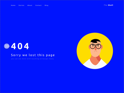 UX on 404 page adobe xd smooth ux  ui ux character blue and yellow blue animation not found 404 video movie gif illustration ui flat minimal website