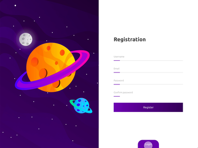 Login and Register page daily ui illustration adobe xd xd ux design ux creative smooth video purple white animation simple clean website web register sign up minimal sign in