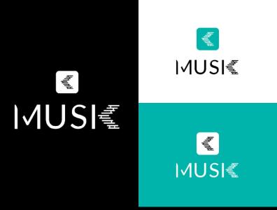 Musik logo ui art flat icon illustration ui illustrator logo animation ux typography branding