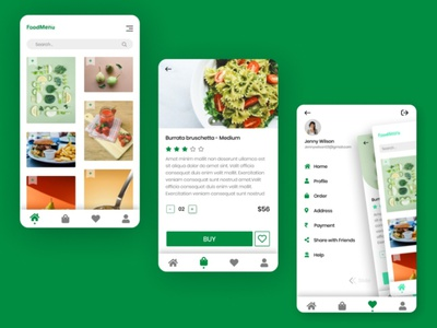 Food Delivery APP clean graphic design art app icon typography design ux ui vector