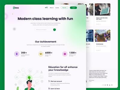 Learning with Fun icon ux graphic design vector figma design homepage design landingpage web design ui