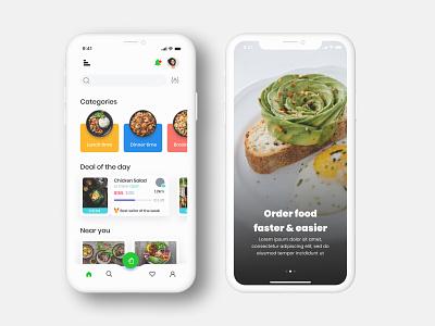 Food Delivery app illustration animation typography vector app graphic design branding design ux ui
