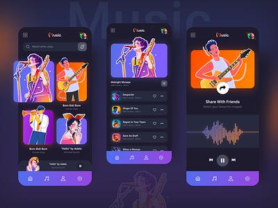 Music Podcast APP clean app graphic design vector web typography branding design ux ui