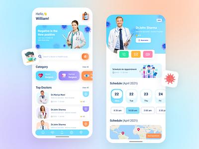 Medical Mobile APP appdevelopment appointment booking app medical app ondemandapp app typography branding design ux ui