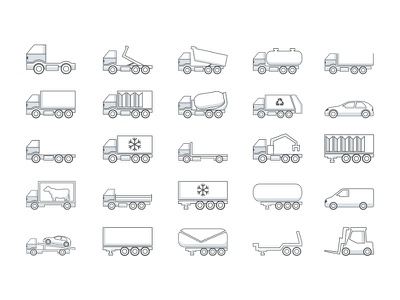 Icon car outline vector industry transport car icon