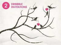 2 Dribbble invitation (Bird)