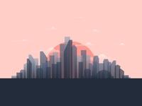 Sunset metropolis