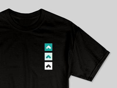 Upstart T-shirt shirt event black tshirt swag graphic design design geometric brand system branding teal upstart pattern