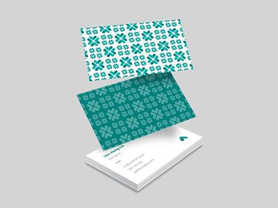 Upstart business card card business card graphic design design geometric brand system branding teal upstart pattern