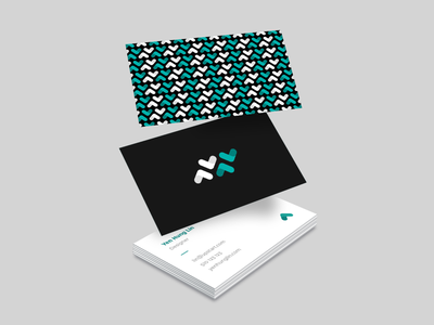 Upstart business card card business card graphic design design geometric brand system branding white black teal upstart pattern