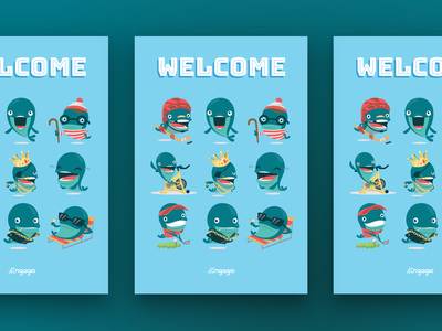 Engagio Welcome Poster Design visual design engagio start up marketing poster