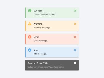 Engagio app toast UI component