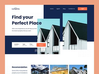 Property Website web design branding uxdesign ui design ui realestate property uiux landing page
