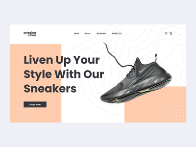 #Exploration - Sneaker Store Website uxdesign ui design uidesign websites uiux ui exploration explore website design website store ecommerce shoes landing page design branding