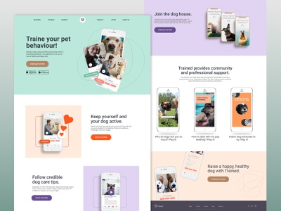 mobile app for dogs ux ui design