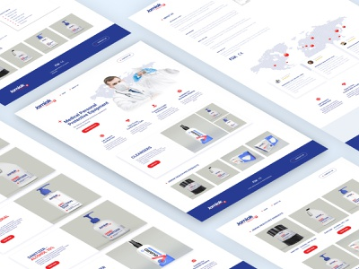Medical Personal Protective Equipment health shop red abode clean pandemic figma minimal medical covid-19 ux ui design