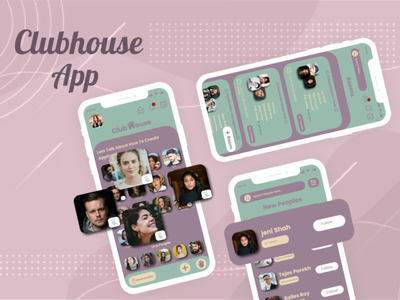 Clubhouse App Redesign (UI UX) typography illustration android app development vector logo android app design android app ui  ux flutter adobexd