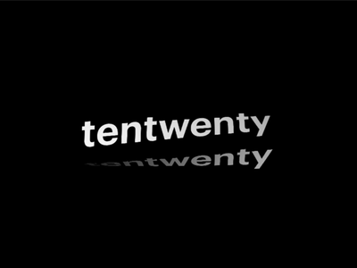 Tentwenty logo motion 3d aftereffects ae c4d cinema 4d logo effects design typography art twisted font typography web animation