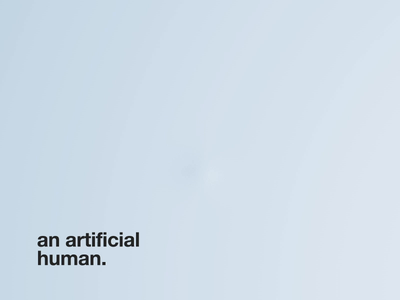 An atifical human neumorphism vr assistant voice future human intelligence artifical clean motion c4d aftereffects design 3d animation interface ux ui