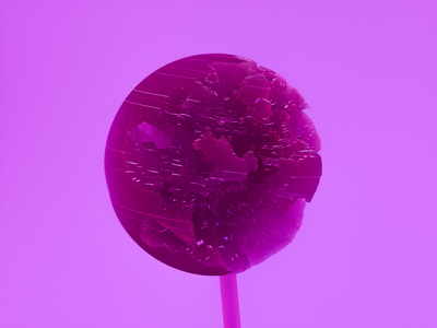 Lollypop sss scatter texture pink digitalart c4d maxon cinema4d render dailyrender cartoon candy sweet tooth noise sweet 3d illustration design