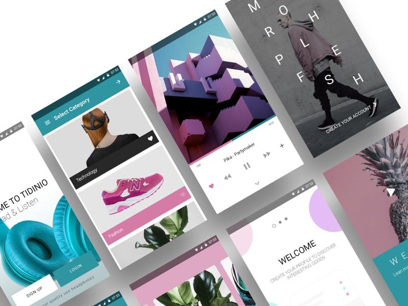 Material Ui Kit material android app mobile ux ui dailyui free freebie