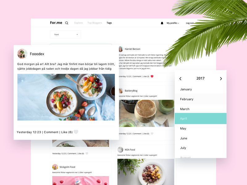 For.me — Social Blog Network web interface ux ui