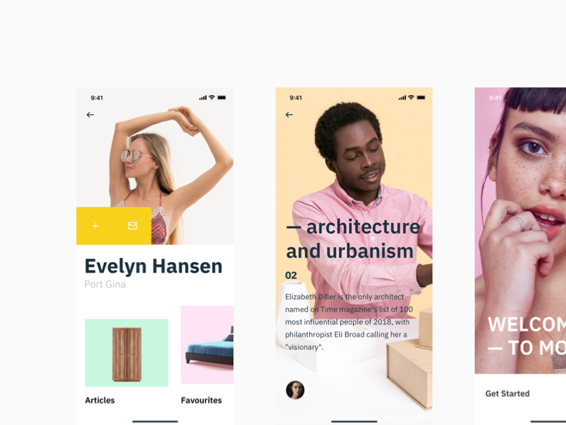 Mode UI uikit modern clear beauty fashion ecommerce