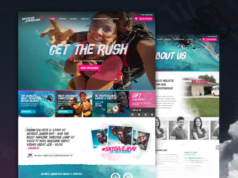 Skydiving Website skydiving ocean neon skydive jurien bay website not flat humaan