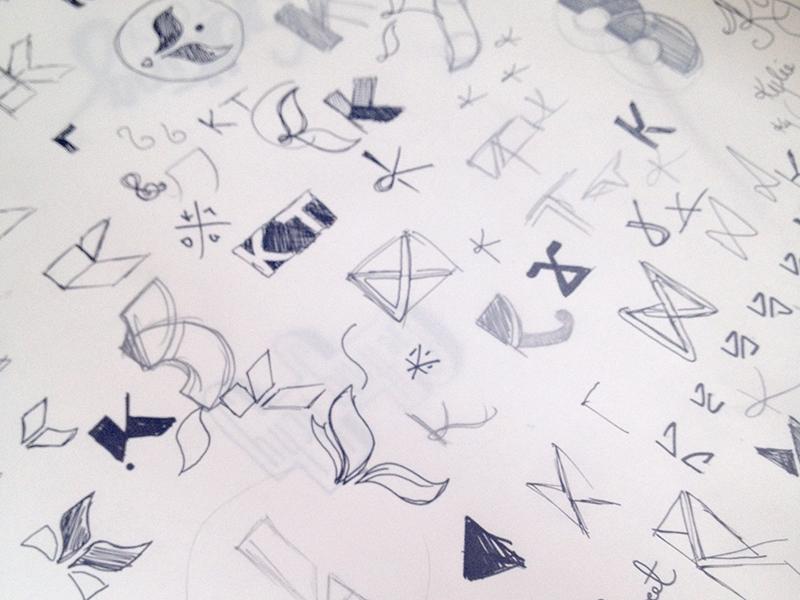 Sketches (Argh!) sketch process logo monogram k