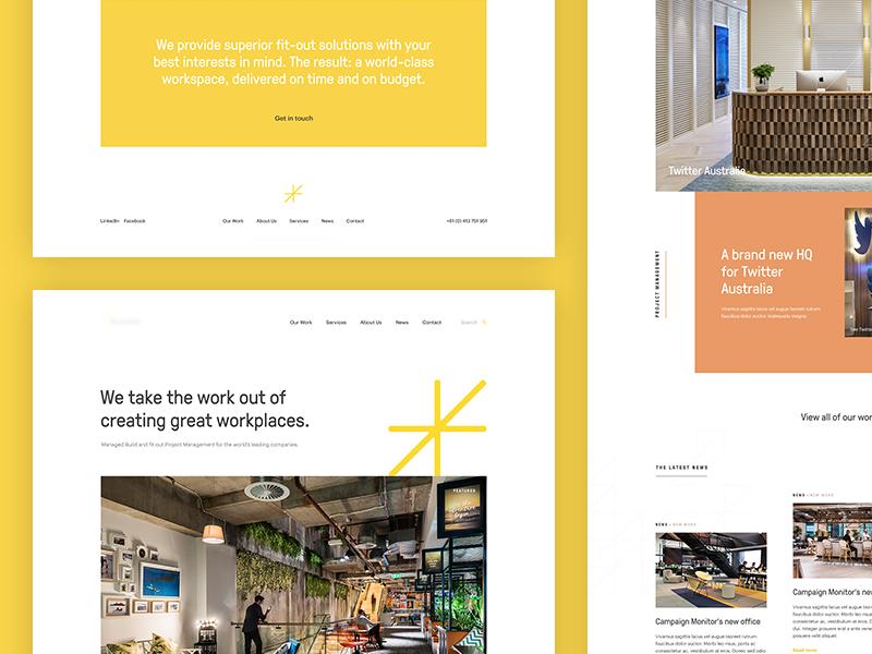Sneak Peek: Marketing Website for Commercial Property Specialist commercial property marketing minimal web design grid concept clean design layout ui website